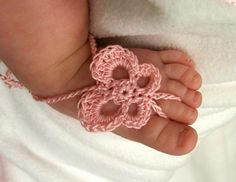 Baby butterfly barefoot sandals