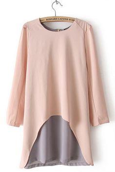 Layer Long Sleeve Chiffon Dress OASAP.com