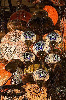 Stock Photo - Lamps in istanbul grand bazaar Turkish Lights, Turkish Lamps, Turkish Art, Photo Lamp, Living Room Plan, Grand Bazaar, Antique Lamps, Moroccan Decor, Candle Lanterns