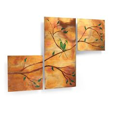 Lovely Outdoor Wall Art In Copper | Home Lovebirds Copper Wall Art Triptych