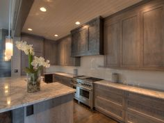 Love the texture of the wood in this kitchen! Dream Home