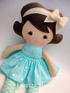Handmade cloth dollGirl giftRagdollCloth by lunnitastudio on Etsy