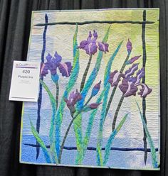 Purple Iris by Ann Fahl is a beautiful, delicate quilt