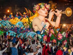 "20 Iconic Mardi Gras Floats: ""Captain Eddie's S.S. Endymion,"" was introduced in 1999."