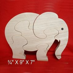 Elephant - Childrens Wood Puzzle Game - New Toy - Hand-Made - Child-Safe… Handmade Wooden Toys, Wooden Baby Toys, Wooden Crafts, Wood Toys, Woodworking Projects For Kids, Wood Projects, Diy Toys And Games, Bird Template, Wood Craft Patterns