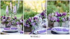 lilac rustic wedding centerpieces