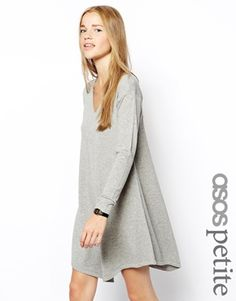 ASOS PETITE Knitted Dress with V Neck