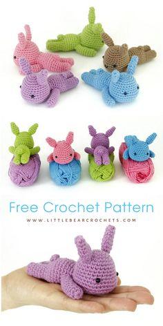 Free Lazy Bunny Crochet Amigurumi Pattern - Little Bear Crochets Crochet Bunny Pattern, Easter Crochet Patterns, Crochet Patterns Amigurumi, Free Crochet, Crochet Baby, Baby Patterns, Paintbox Yarn, Thread Crochet, Crochet Projects