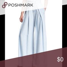 High Waist Wide Leg Chambray Pants NWT - Gloria Vanderbilt's KIIND OF Brand Denim. Light Blue color, light weight, soft, flowy. KIIND OF Pants Wide Leg