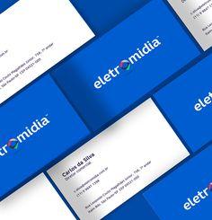 Branding: Eletromidia - Business Card  #branding #visualidentity #businesscard #visitingcard #graphicdesign
