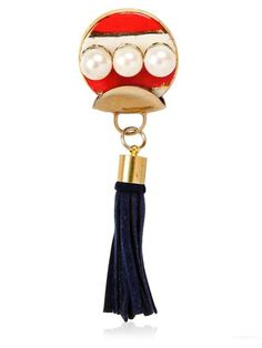 Love the SONIA BOYAJIAN Gypsy Leather Tassel Gold Plated Pin on Wantering.