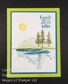 Stampin' with Lisa: Waterfront Mountain Scene Stampin' Up! Waterfront stamp set