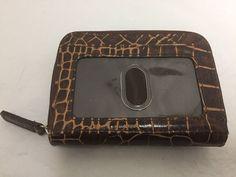 27fb9e813b87 Ralph Lauren Purse Bag Charm Tag Brown Leather Silver Tone Metal Fob ...