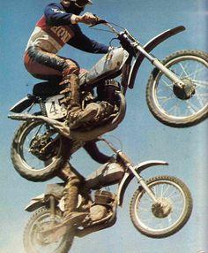 1970's Motocross Racing. Honda Elsinore & ?