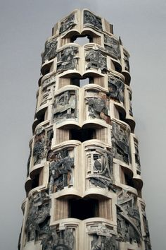 """""""Library of American History (detail)"""" (2012), by Brian Dettmer. Courtesy Brian Dettmer/Toomey Tourell."""