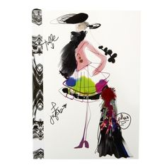 Discover the Christian Lacroix Fashion Sketch Croquis A6 Notebook at Amara