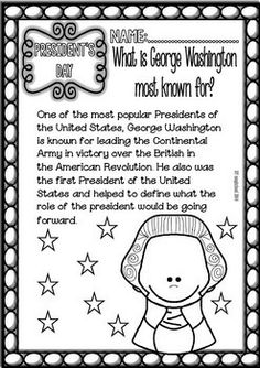 President's Day Unit Study/Sheets, Online Games and Activities Elementary level