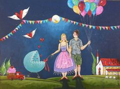 Precious Gift, South African Artists, Xmas, Posters, Cute, Gifts, Painting, Presents, Christmas