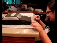 How to Make a Fondant Car Cake....awesome details!!!!