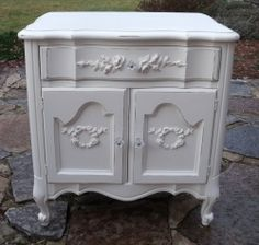 French provincial cottage night stand
