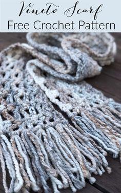 Winter/'s Ice Tasseled Scarf Crochet Pattern PDF Instant Download Caron x Pantone yarn