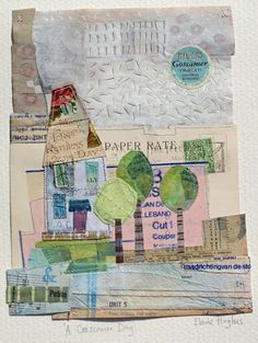 Oh Golly Gosh - Gallery - elaine hughes makes lovely little house collages.