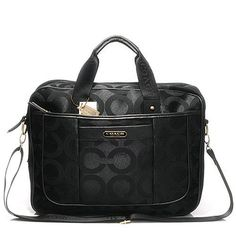 Coach In Monogram Large Black Business bag DHI