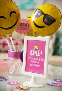 Glam Emoji Birthday Party Ideas - Frog Prince Paperie
