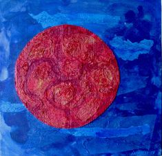 Red Circle, acrylic on canvas, 50 x 50 cm | Experience Jamaique