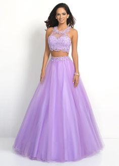 Lilac High Neck Sheer Lace Beaded Two Piece Prom Dress | 4 Things To Consider When Choosing Your Prom Dress