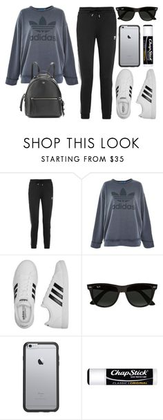 """""""Sin título #14402"""" by vany-alvarado ❤ liked on Polyvore featuring adidas Originals, adidas, Ray-Ban, OtterBox, Chapstick and Fendi"""