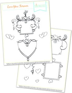 Valentine Embroidery pattern #free