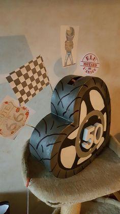 Urne d'anniversaire version motard