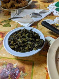 Turnip Greens on an Experienced Tablecloth Turnip Greens, Bed And Breakfast, Wisdom, Life, Food, Art, Art Background, Essen, Kunst