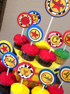 JESSIE / Toy Story CUPCAKE TOPPERS / Cowboy and by KROWNKREATIONS
