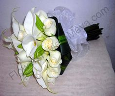 Calla lilies and white roses bouquet. My bouquet maybe.