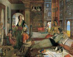 The Harem (Ottoman Caliphate/Empire) -John Frederick Lewis (Painter, CE British) Empire Ottoman, Birmingham Museum, Middle Eastern Art, Art Ancien, Exotic Art, Harems, Oil Painting Reproductions, Art Uk, Arabian Nights