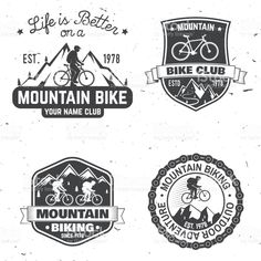 Set of Mountain biking clubs. Vector illustration royalty-free set of mountain biking clubs vector illustration stock vector art & more images of logo