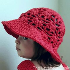 Weeping Willow Sun Hat for (Infant - Child) Crochet Pattern - The Lavender Chair