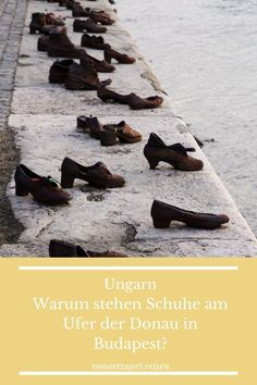 Warum stehen Schuhe am Ufer der Donau in Budapest? #budapest #ungarn #donau #denkmal Statue, Budapest Hungary, Photo Mural, Sculptures, Sculpture