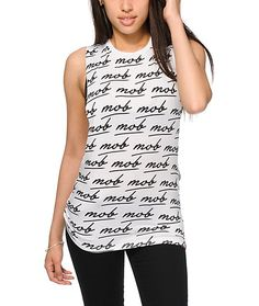 13e58ffc0dbd1 Married To The Mob MOB Script Muscle Tank Top