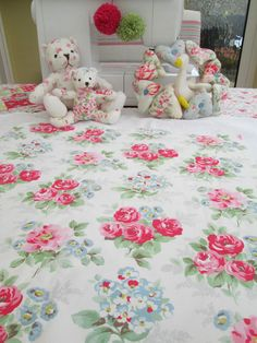 BN Very Lovely Vintage Cath Kidston Cotton Duck Remnant In Regal Rose