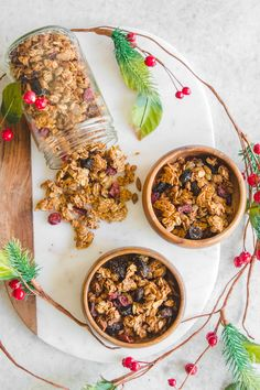 xCrunchy Holiday Spiced Granola - Easy Vegan Breakfast Recipe