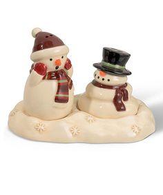Melting Snowman Salt & Pepper Shaker Set