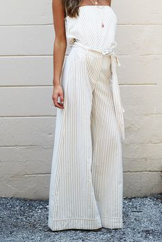 Lulu Striped Wide Leg Pant - {a} haley boutique