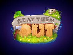 Logo for game designed by Daria Volkova. Typography Logo, Logos, Game Logo Design, Branding Design, Game Font, Game Title, Cartoon Logo, Game Concept Art, Text Design