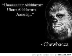 Wise words from Chewie