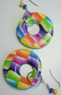 Watercolor Rainbow Earrings