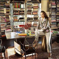 Kelly Wearstler in her eclectic workspace
