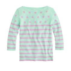 Girls' dots and stripes sweater. J. Crew